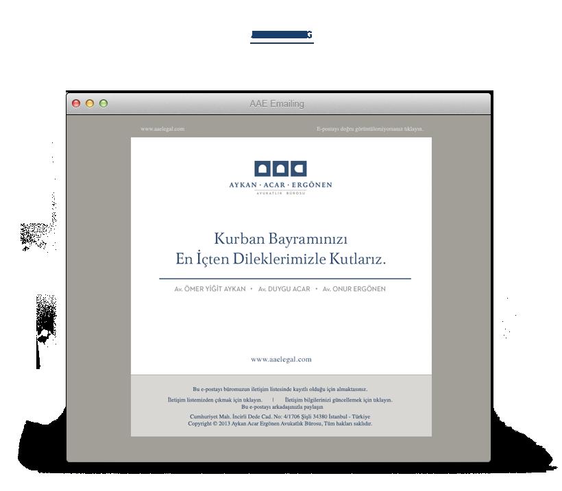 AAE e-bülten ve e-posta tasarımı