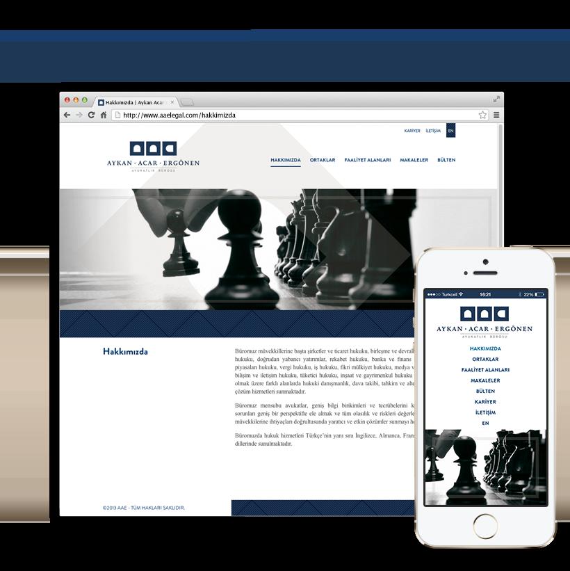 AAE Websitesi tasarımı