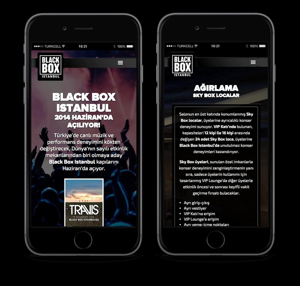 Blackbox Istanbul mobil uyumlu