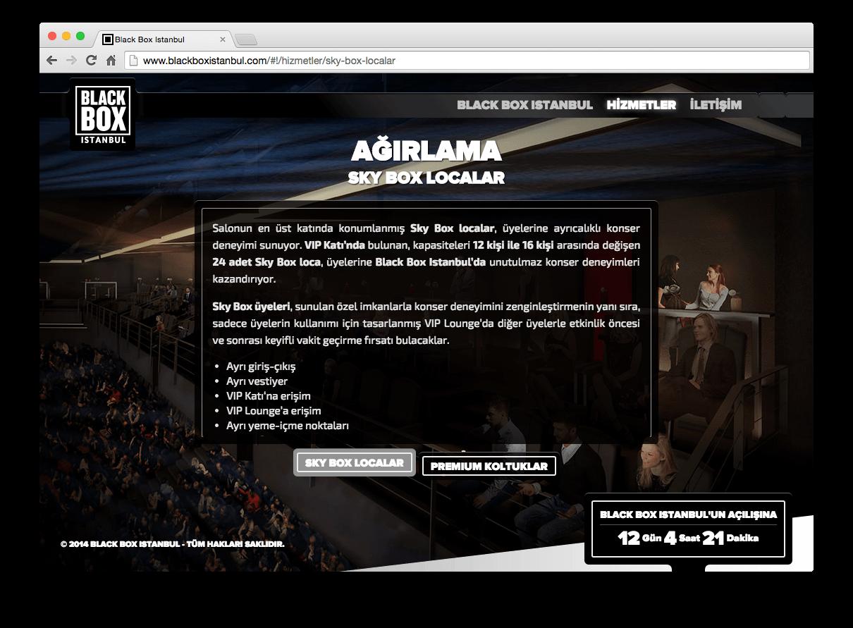 Blackbox Istanbul websitesi tasarımı
