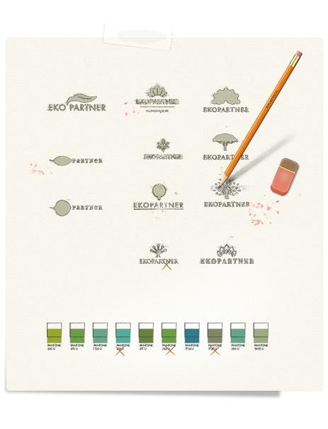 EkoPartner logo skeçleri